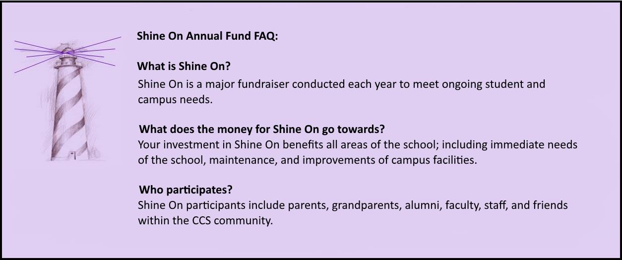 Shine On Annual Fund FAQ